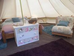 Bell tent interior
