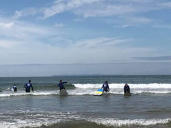 Surfing at Croyde