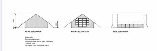 Proposed cabin tents