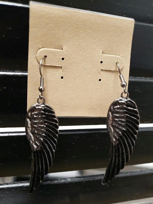 Angel Wings Earrings (black)