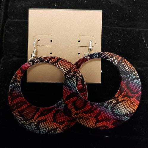 Snake skin print earrings
