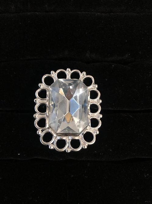 Rhinestone Ring size 5 1/2
