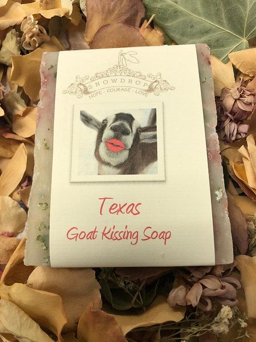 Texas Goat Kissing