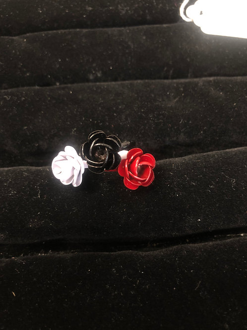 Single Rose Trio ring set