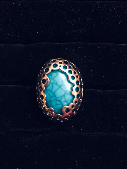 Antique Gold Turquoise ring