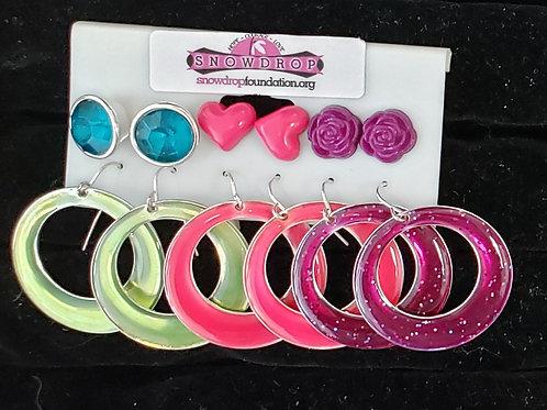 6 pcs earring set
