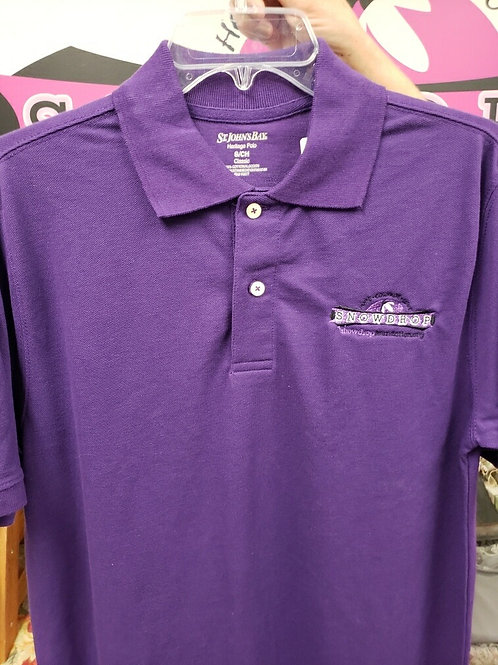 Embroidered Purple Young men's Polo