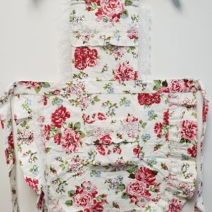 Vintage Inspired Rose and Lace Halter Aprons
