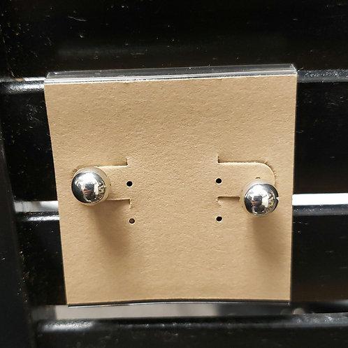 Ball earrings silver color