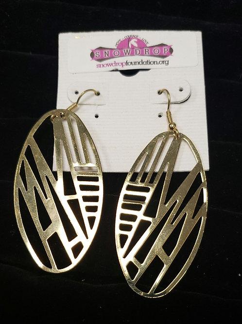 Gold geometic earrings