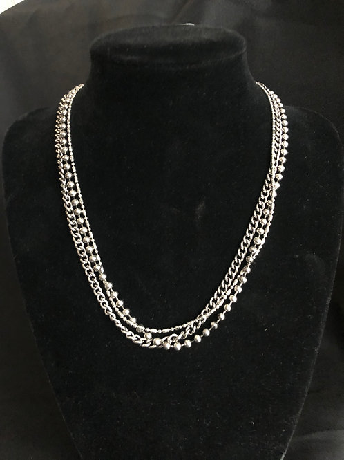 Three Layered Chains Necklace