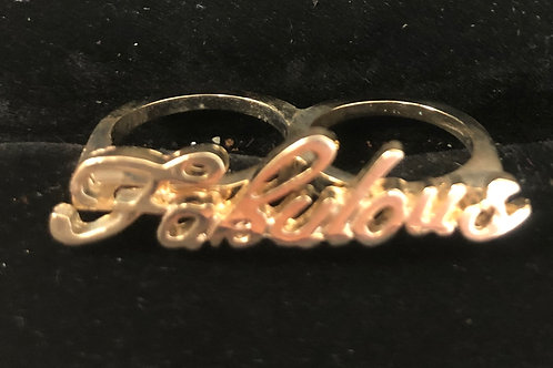 Double finger Gold Fabulous ring