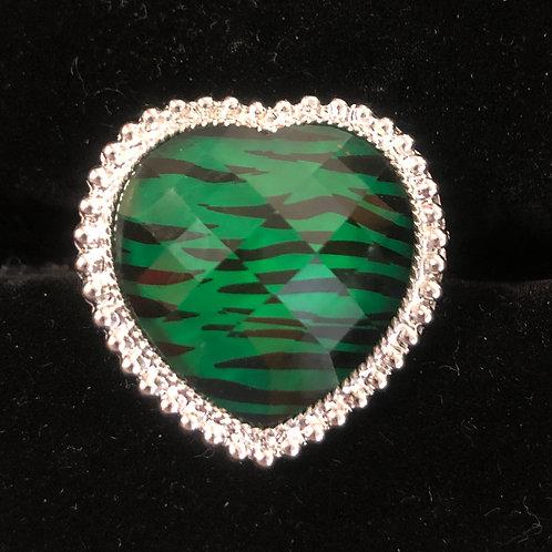 Emerald Tiger Heart Ring