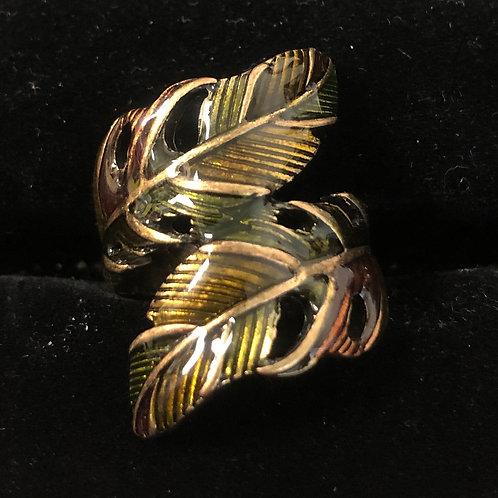 Antique Gold Leaf ring