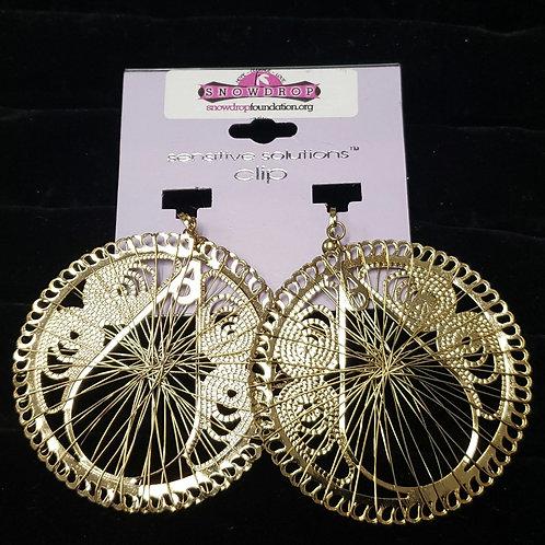 CLIP gold wire earrings