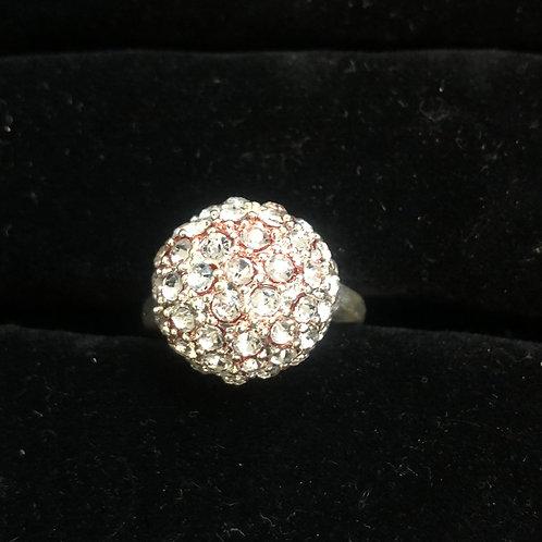 Ball shape rhinestone ring