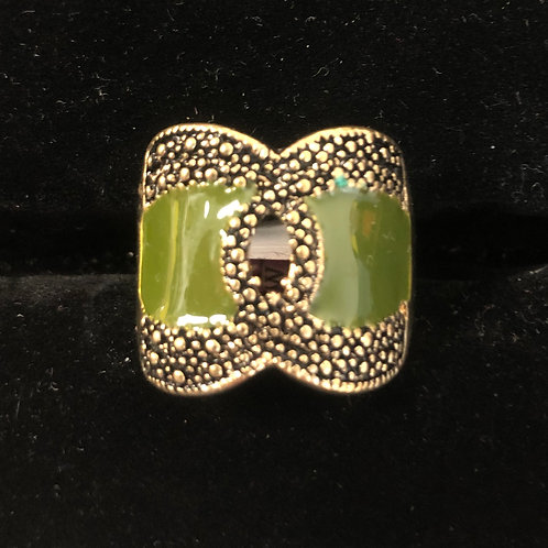 Antique Gold and Jade ring