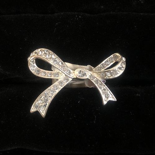 Rhinestone Bow Rings