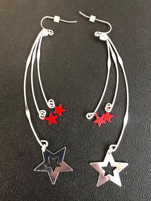 Dangling stars earrings