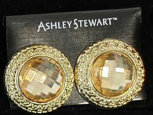 Ashley Stewart gold and yellow earrings