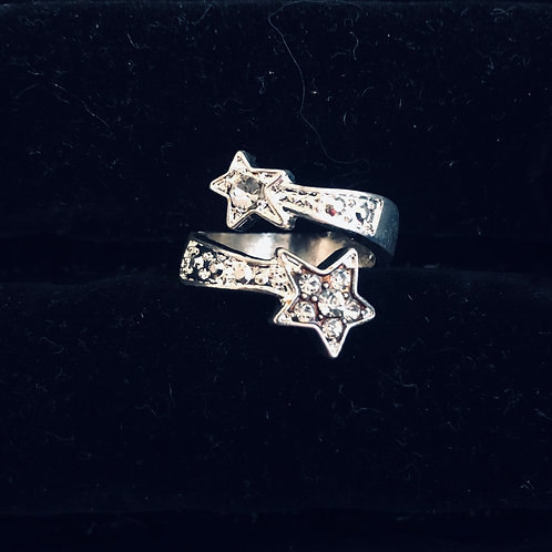 Wrapped Double Star ring
