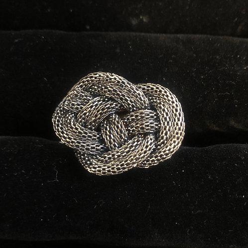 Black Onyx Knot ring