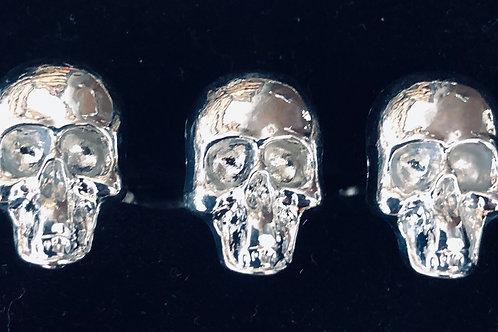 Double finger  skull ring