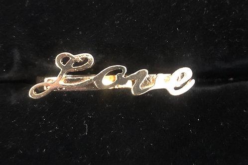 Double finger Gold Love ring