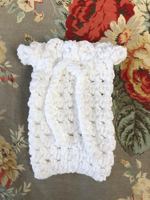White Crochet Soap Saver