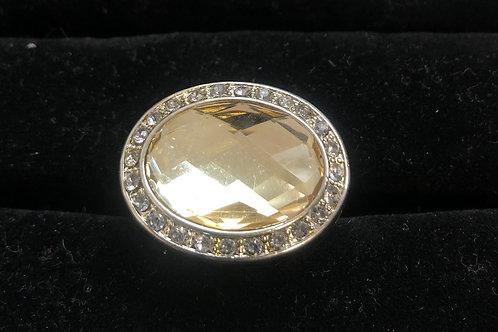 Lg Yellow Rhinestone ring