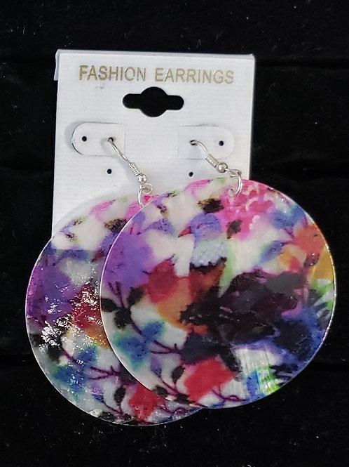 Round bird earrings
