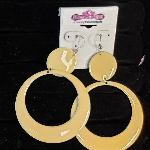 Light yellow dangle earrings