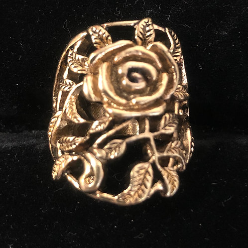 Antique Gold Rose ring