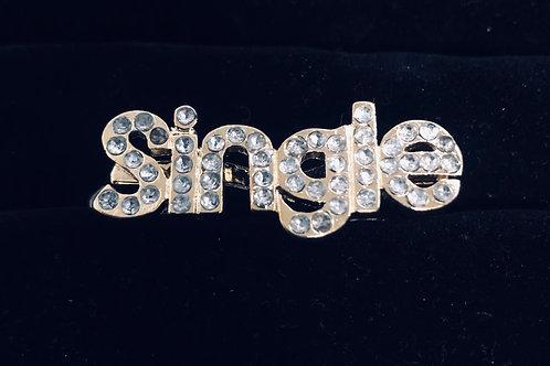 Double finger Rhinestone Single ring