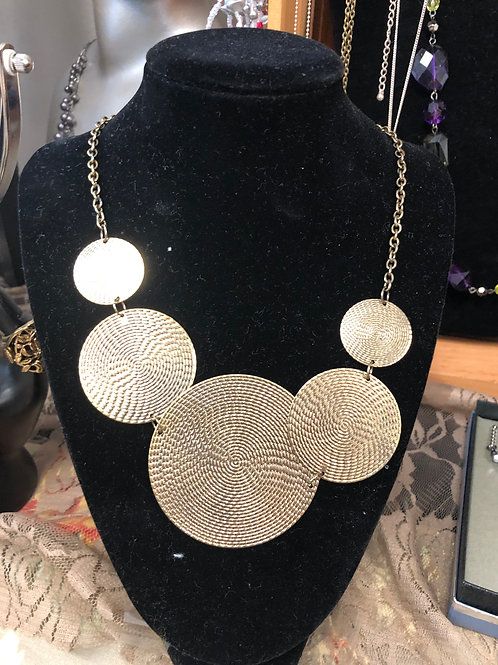 Multiple Circles Necklace (Gold)
