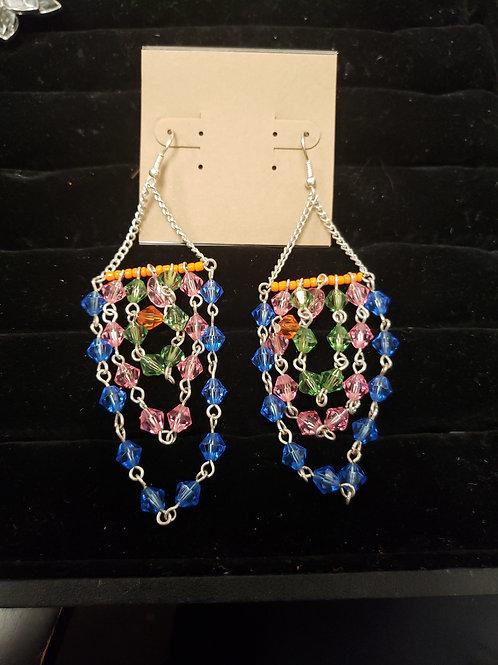 Colorful chandelier earrings