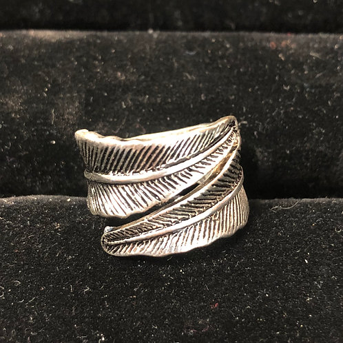 Wrapped Leaf ring