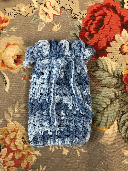Shades of Blue Crochet Soap Saver