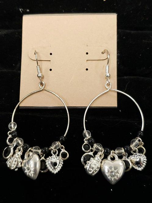 Charm silver earrings