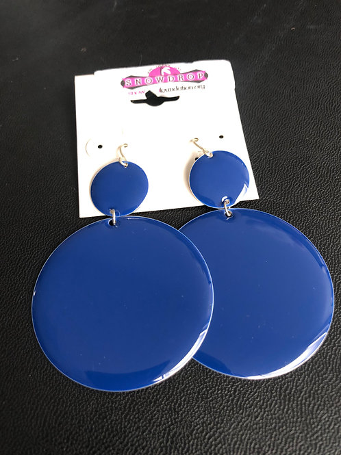 Blue round dangles