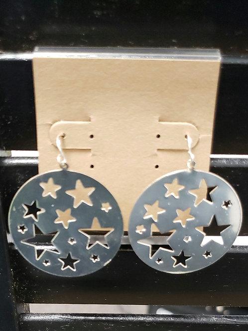 Star round earrings