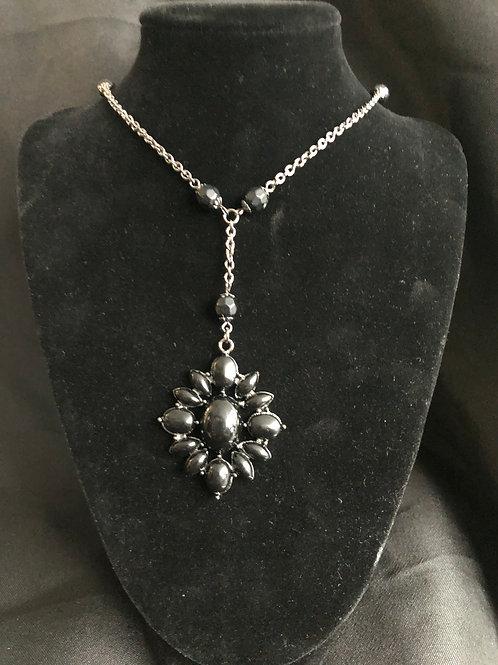 Black  Rhinestone Necklace