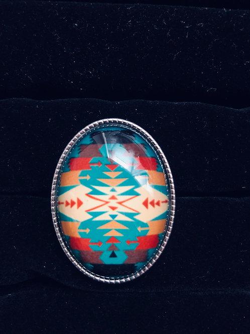 Lg Tribal Silver ring