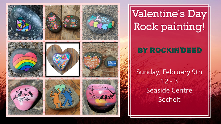 Valentine's Day Rock Painting