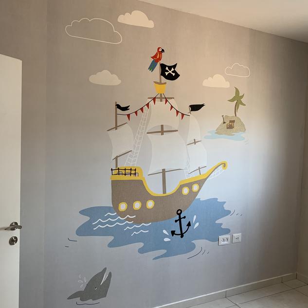 3 yrs old boys bedroom wall.