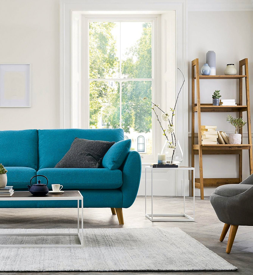 Beautiful living room with modern sofa.j