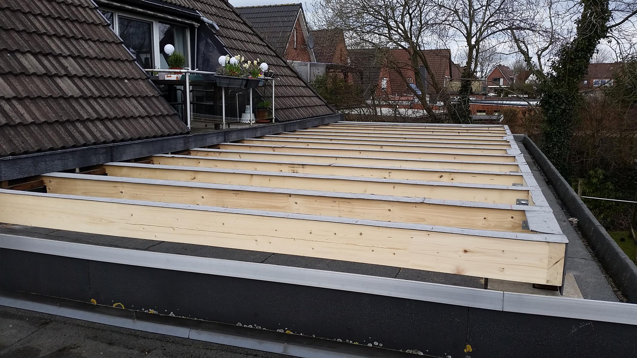 Unterkonstruktion Dachterrasse