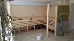 Aufbau einer Sauna