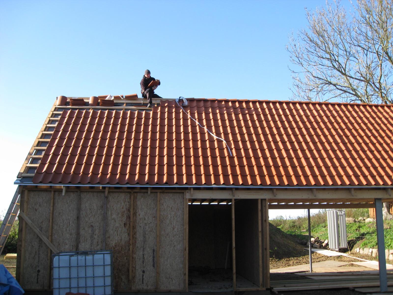 Satteldach mit Geräteraum DN 45°