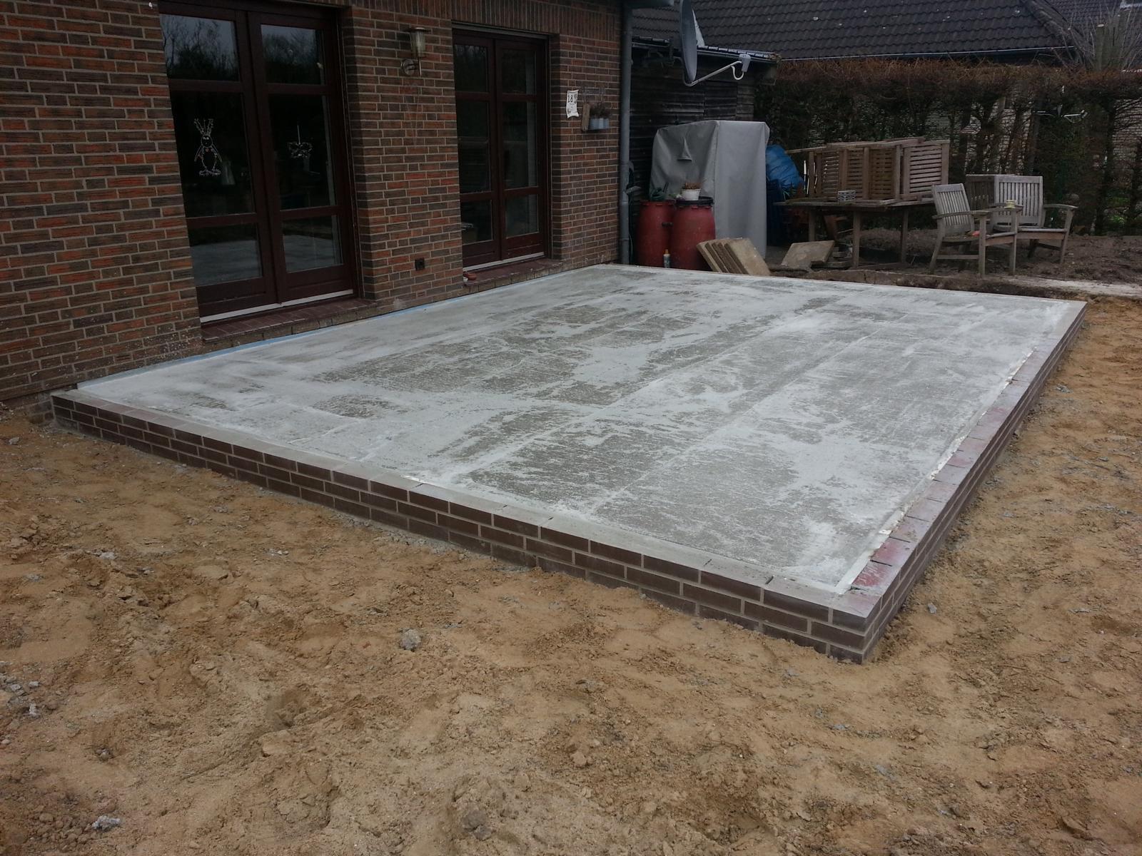 Bodenplatte für Wintergarten